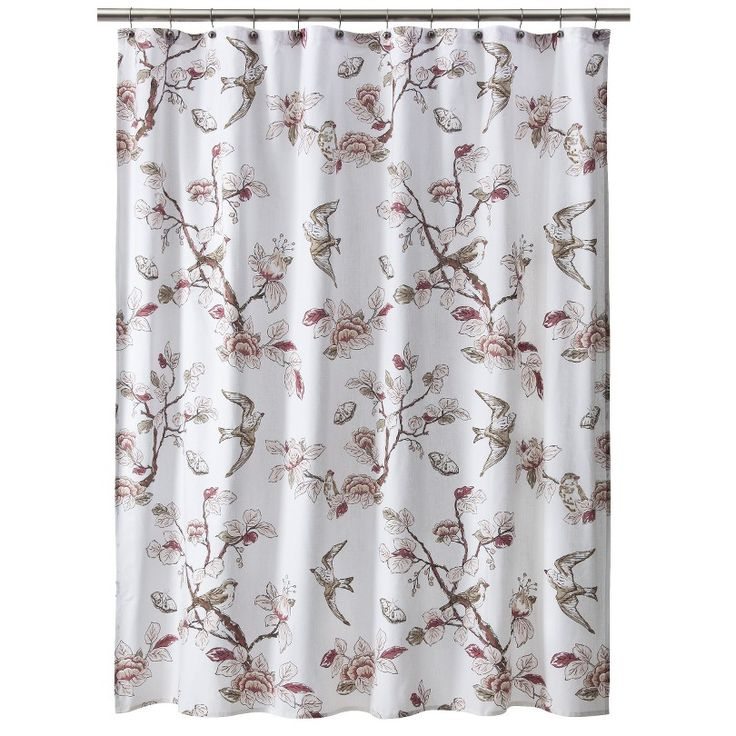 Threshold shower curtain bird pink curtains pinterest pink showers and birds