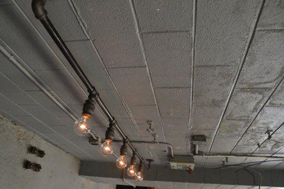 Track Lighting Industrial Ceiling Light door WestNinthVintage