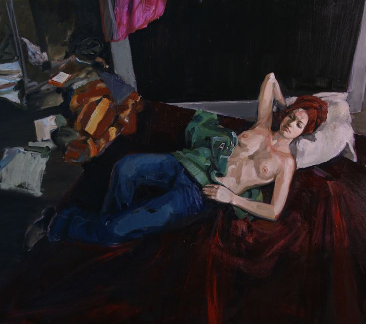 Wenus, Michal Zaborowski, 170x150cm, oil on canvas, contemporary art, woman, bed