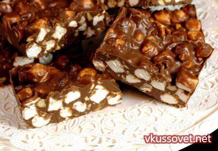 Шоколадная карамель с начинкой – маршмэллоу