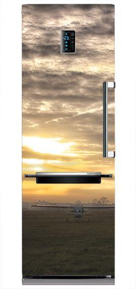 Twoja lodówka może być wyjątkowa. Mata magnetyczna zachód słońca nad lotniskiem. #matamagnetyczna #zachodslonca #sunset #design #kuchnia #fridge
