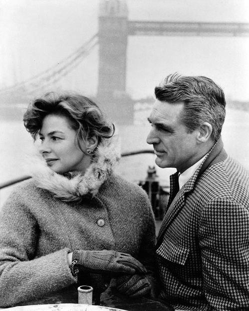 On a day off from work on Indiscreet, Ingrid Bergman and Cary Grant take in the sights of London, 1958.