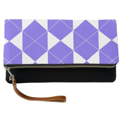 Abstract geometric pattern - blue and white. clutch - patterns pattern special unique design gift idea diy
