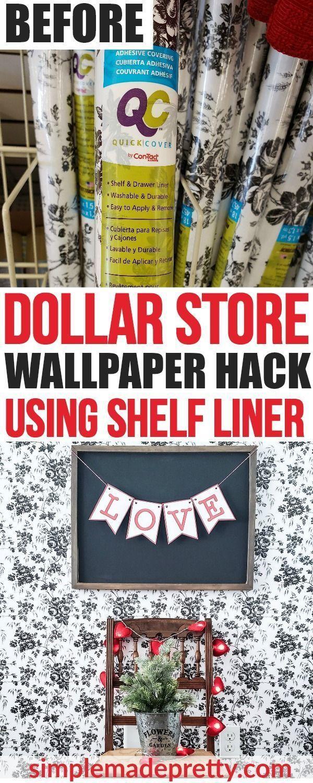Dollar Store Hack Peel And Stick Wallpaper Dollar Stick Store Wallpaper Genel Dollar Store Diy Dollar Store Hacks Dollar Stores