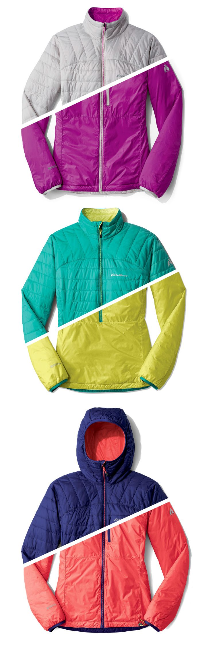 Great layer for any outdoor adventure, the reversible Women's Ignitelite Jacket, with or without a hood.