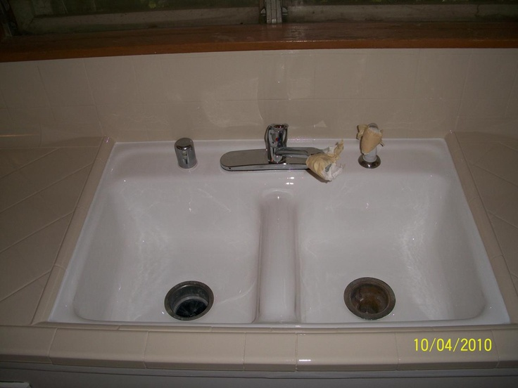 How To Refinish Kitchen Sink beautiful kitchen sink reglazing ideas - home decorating ideas and