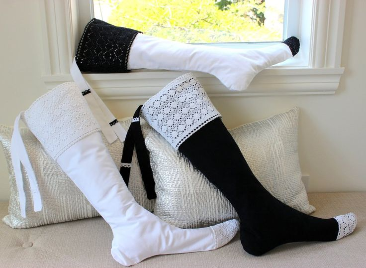 A minimal modern classic for the Newlyweds or the entire Family Christmas Stockings. These striking black and white beauties remain timeless in their simple elegance. - Hand Tailored - Limited Edition