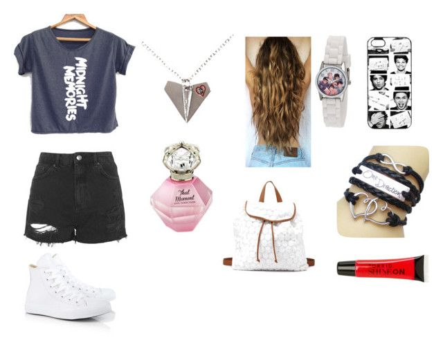 """""""Concerto: One Direction"""" by carmendias1969 ❤ liked on Polyvore featuring Topshop, Charlotte Russe, Converse and Torrid"""