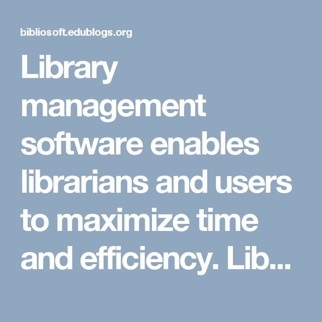 Library management software enables librarians and users to maximize time and efficiency. Library System gives detailed information about students, staff, and books by the click of a button. More ever there is the historical record of everything that the library has engaged with. It will track on the how many books are available in library and books issued to the teachers and students.  Visit here…