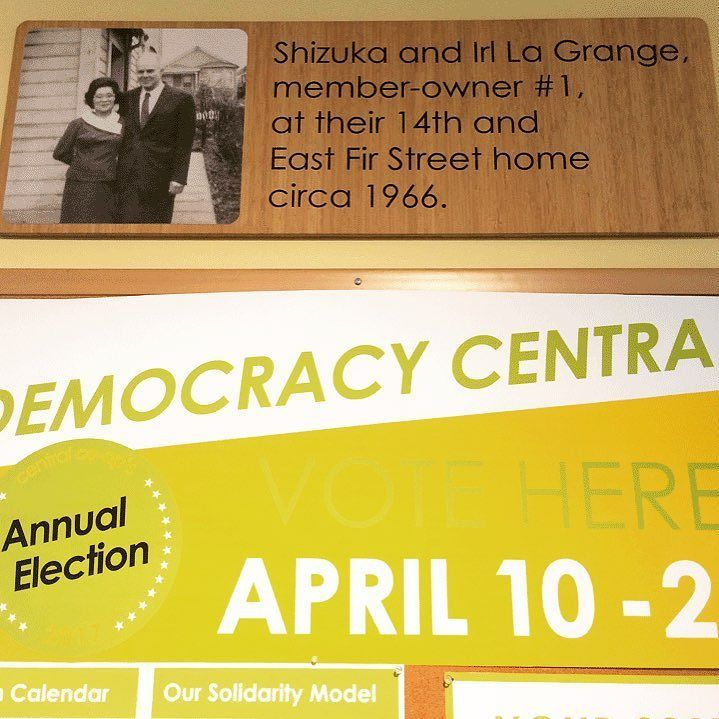 Central Co-op Owners: Cooperative Principle 2 is Democratic Member Governance. Our co-op is what it is today because of the participation of our members starting with member-owners #1 Shizuka and Irl La Grange. They now gaze down upon Democracy Central where you can learn about the election and cast your vote. Follow in Shizuka and Irls footsteps and keep your co-op strong by voting in the store by mail or online by Saturday April 22 or at our Annual Owner Meeting & Maker Celebration on…