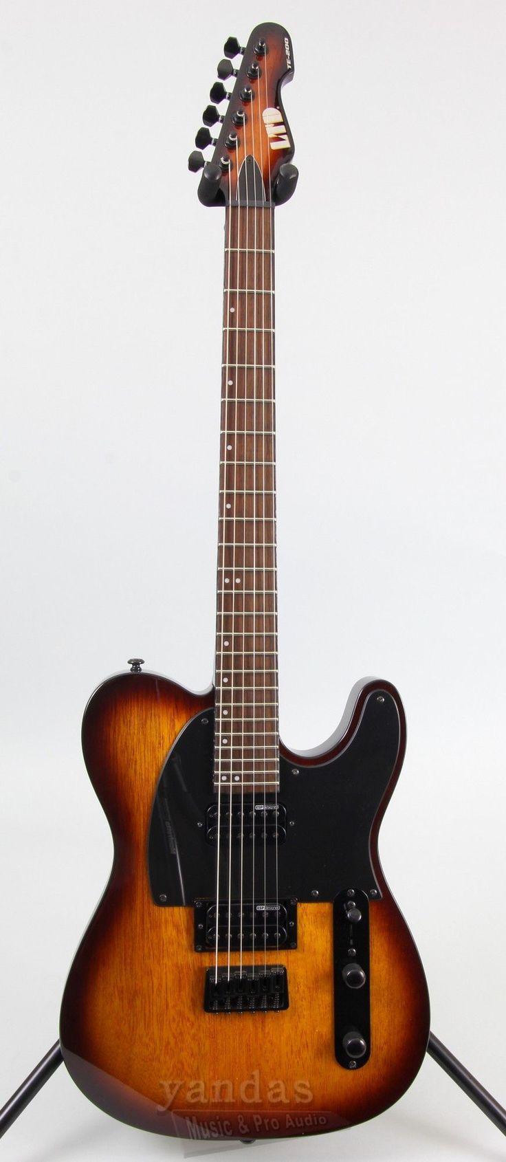 LTD TE-200 Features - 25.5 Scale Length - Mahognay Body - Bolt-On 3-Piece Maple Neck - 350mm Radius - ESP Designed Humbuckeres - 24 XJ Frets - Thin U Neck Contour - Black Hardware Finish Options - Bl www.guitaristica.org #electricguitar #guitars #guitaristica