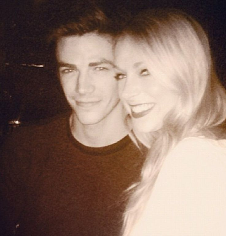 Grant Gustin with former girlfrield Hannah Douglass