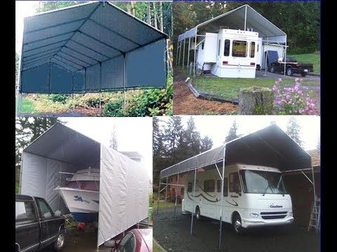 Portable Garage Shelter Carport, Temporary Carport Garage, All Weather Shelter Logic