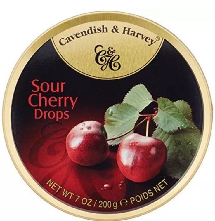 Cavendish U0026 Harvey Gift Candy 3 Packs Sour Cherry Hard Candy Tin 5.3 OZ Each
