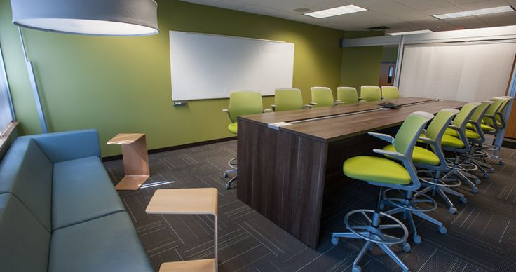 Sparrow Health System IT Department collaborative space with Campfire Big Table by Turnstone