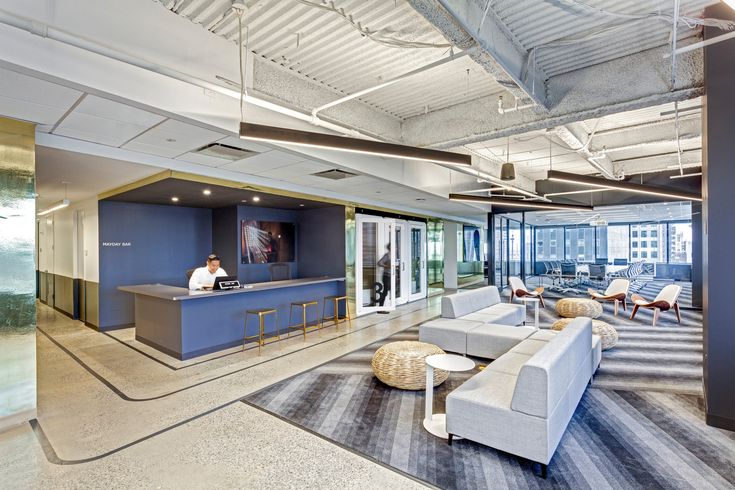 Reception area at Orion Worldwide located in New York City, New York.