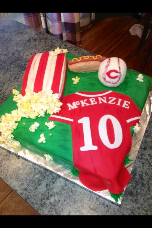 Decorating Ideas > 13 Best Images About Baseball Cakes On Pinterest  Parks  ~ 215317_Birthday Party Ideas Cincinnati