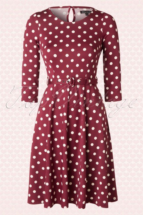 King Louie Betty Polkadot Dress 102 27 15688 20150728 0006W