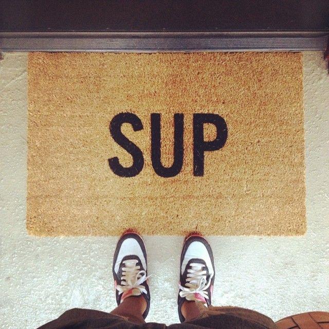 Jowena with the Sup Doormat || Get the doormat: http://www.nastygal.com/whats-new/sup-doormat?utm_source=pinterest&utm_medium=smm&utm_term=ngdib&utm_content=clothing_optional&utm_campaign=pinterest_nastygal