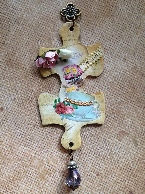 Altered Puzzle Piece Charms (3 of 3) | by Donetta's Beaded Treasures