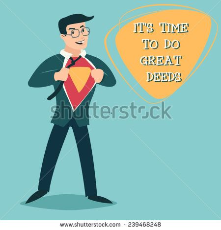 Happy Smiling Businessman Turns in Superhero Suit under Shirt Icon on Stylish Background Retro Cartoon Design Vector Illustration