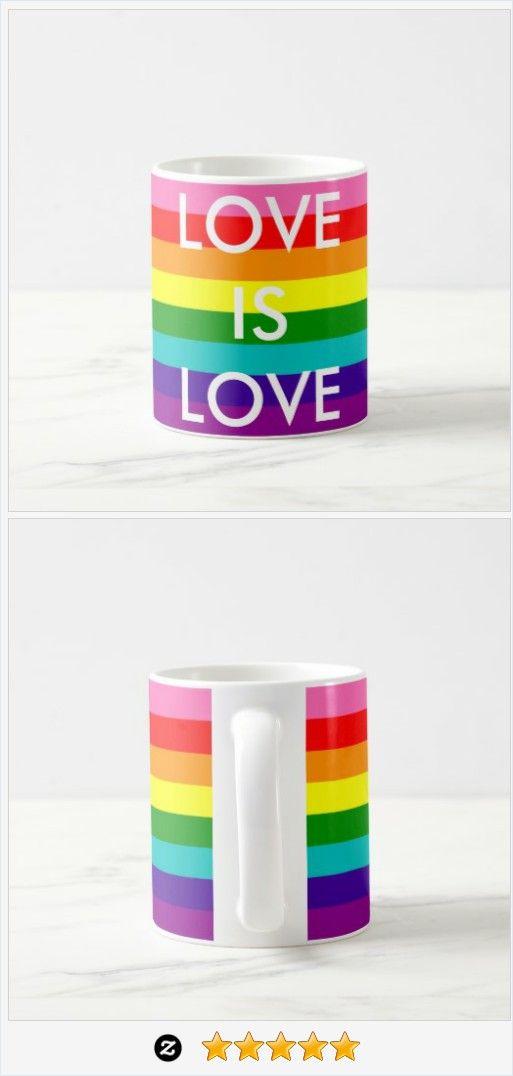 #Rainbow Flag Gay Pride #LGBT 8 Stripes #Love is Love Coffee #Mug #JustSold #ThankYou :) http://www.zazzle.com/rainbow_flag_gay_pride_lgbt_8_stripes_love_is_love_coffee_mug-168840904960623035
