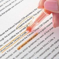 I HAVE TO HAVE THIS!!!! A Highlighter that highlights AROUND the words!!!