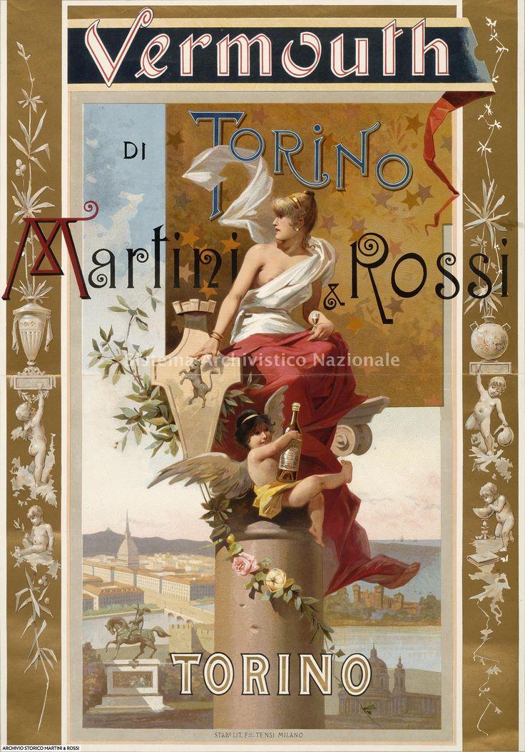 Martini & Rossi, manifesto pubblicitario, Torino 1895