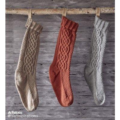 Sugar Twist Knit Stocking