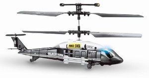 """Blackhawk Military RC 3 Channel Mini Gyro Helicopter 345 by Viefly. $24.68. Built-in GYRO for beginners. Perfect RC Helicopter for Beginners. Charge Time: 30-45 minutes, Flight Duration: 8-12 minutes. This Brand New 3 Channel Gyro RC helicopter is a top seller Helicopter in Malls. At approx 7"""" long, it easily fits in the palm of your hand and is fully functional out of the box, equipped with latest Gyroscope technology, which makes this helicopter an instant hot seller in ..."""