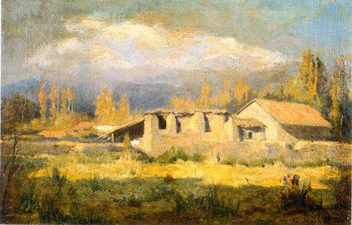 Tarde de Invierno,  Óleo sobre tela 53 x 35 cm Pinacoteca Universidad de Concepción, Chile