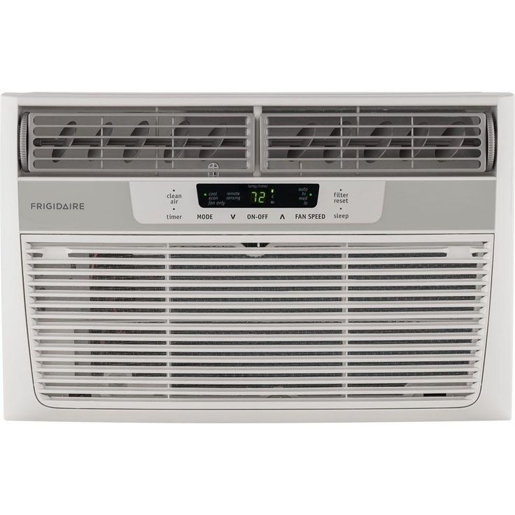 Frigidaire 8,000 BTU 115-Volt Window-Mounted Mini-Compact Air Conditioner with Temperature Sensing Remote Control, White