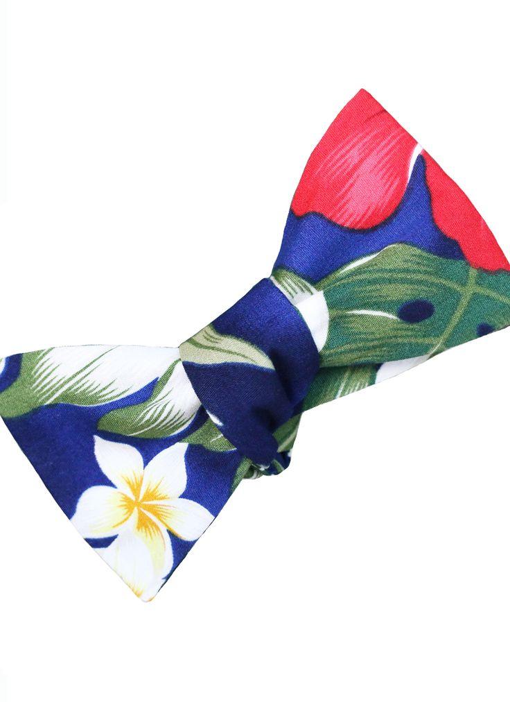 Blue Hawaiian Bow Tie from Lord Wallington  http://lordwallington.com/product/blue-hawaiian-print-bow-tie/