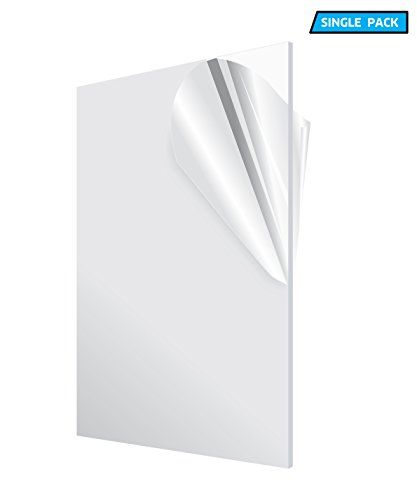 AdirOffice Acrylic Plexiglass Sheet - Transparent, Plastic Sheeting - Durable, Water Resistant & Weatherproof - Multipurpose & Ideal For Countless Uses 12''x24'' 1/8'' thick, Clear  THE BEST ALTERNATIVE TO GLASS: This transparency acrylic sheet is safe, practical, durable and easy to use! Moreover, it will be shipped to you with a protective film cover, assuring you of its excellent condition. Glass panes are impressive. However, they are easily breakable and they may crack over time, ...
