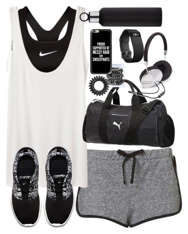 """Outfit for the gym"" by ferned on Polyvore featuring NIKE, The Row, blomus, Puma, Forever 21, Fitbit, Invisibobble and Casetify"