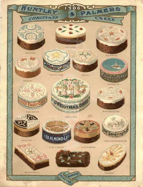 love it!!!  Christmas cakes advertisement 1906...