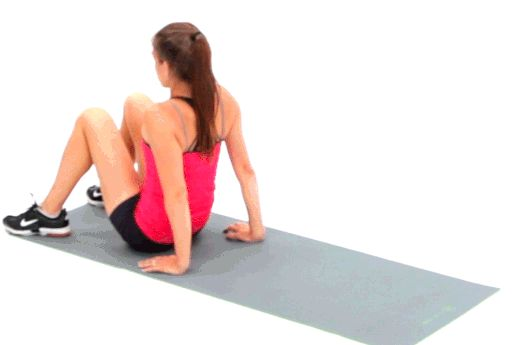 No. 6 Crab Walk // You don't need a gym to get a great workout. These 20 exercises recommended by fitness expert and celebrity trainer Amy Dixon will hit every single muscle in your body and slash fat -- without any equipment.