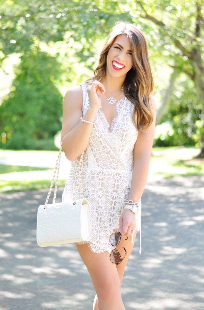 calling all brides, white outfits for brides, bridal fashion, bridal outfit ideas, outfits for the bride, bridal dresses, bridal shower dress, bachelorette dress, white lace romper, lace romper, prada sunglasses, tory burch purse, colourpop mars, valentinos, studded valentinos, valentino dupes, summer fashion, summer outfit ideas, summer outfit inspo