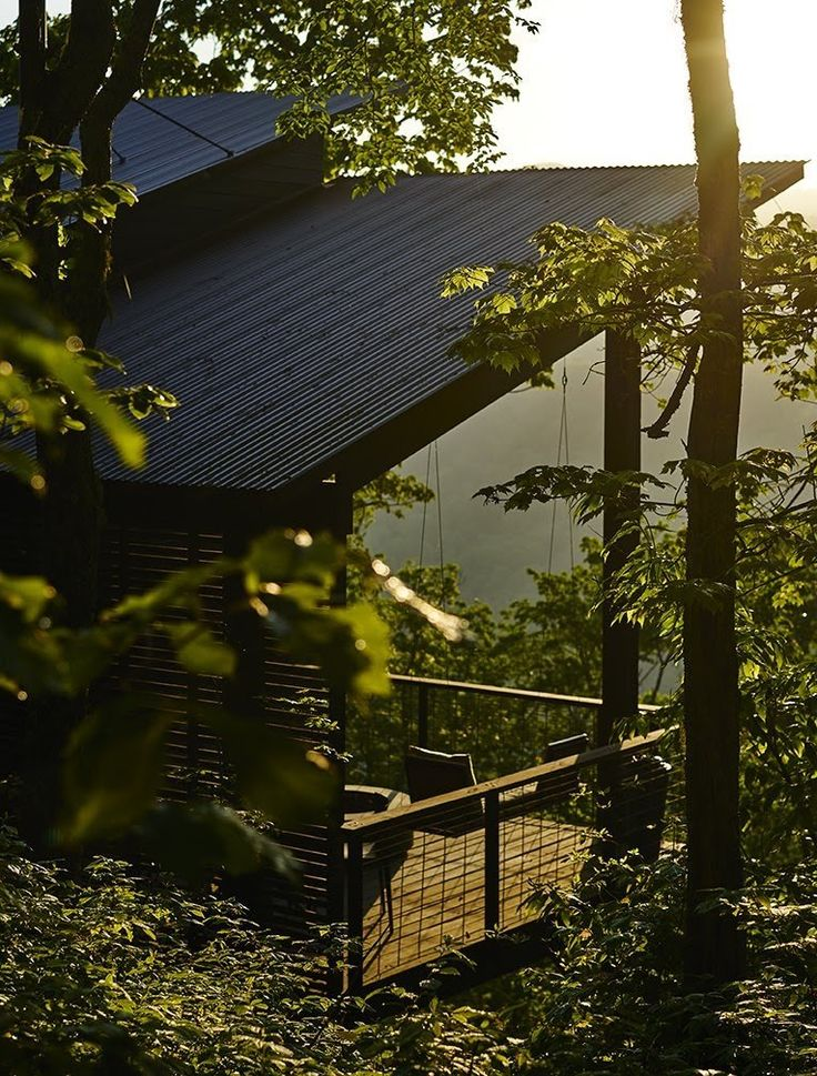 Dwell - A Rustic-Modern Cabin Inspired by Japanese Bungalows and Shou Sugi Ban
