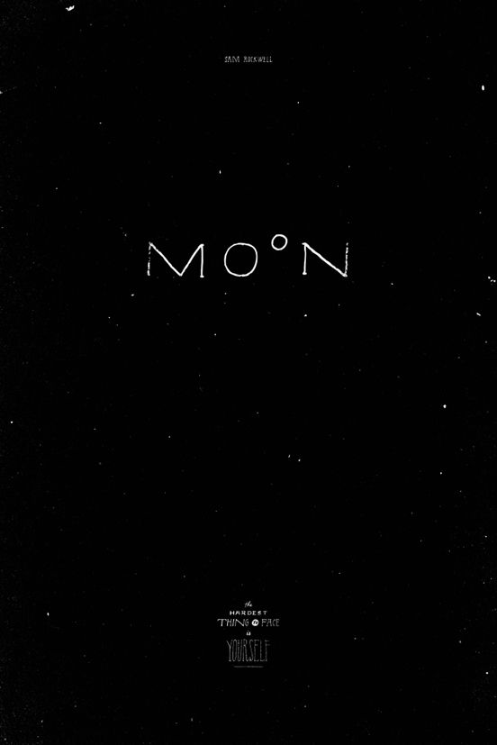 {<3} Moon poster by Jon Contino for All City Media's Retyped exhibition