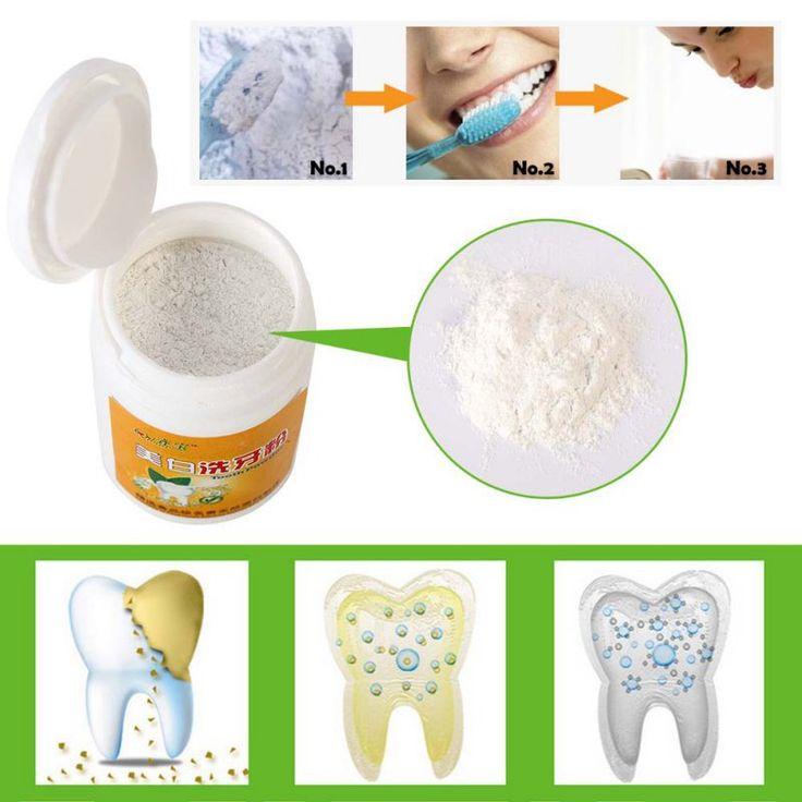 Limpieza de los Dientes de La Placa Y Sarro dientes Higiene Bucal Blanqueamiento Polvo de la Ampliación de Eliminación de Manchas de Café Diente Polvos Blancos