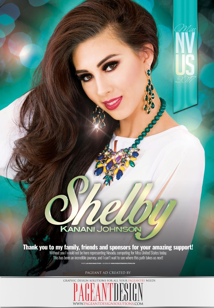 Shelby Johnson • MISS NEVADA US 2017 #PageantDesign #PageantAds #PageantProgramBooks #AWESOMEpageantADS (photo Las Vegas Image Studio) For more more info and to order your #AWESOMEpageantAD, check out: http://www.pageantdesignsolutions.com ALL AGES, ALL PAGEANT SYSTEMS WELCOME!