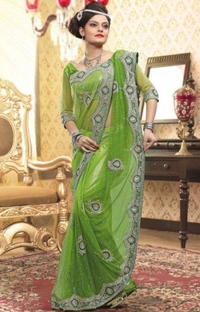 Apple Green Color Net Saree TRKS9012 #JulepColorChallenge #CreateYourJulepColorSaree Trks9012, 18055, Nets Saree, Bridal Saree