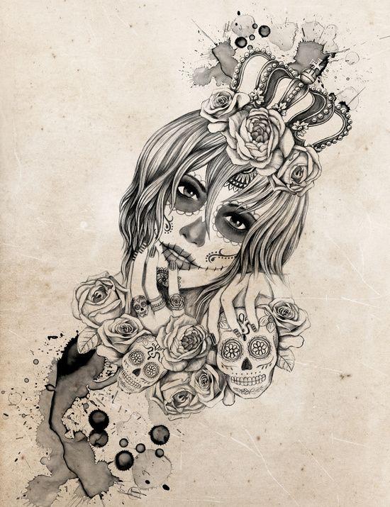 Sugar Skull Queen by Vivian Lau