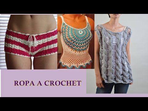 Tutorial Shorts Crochet o Ganchillo en Punto V (Uve) - YouTube