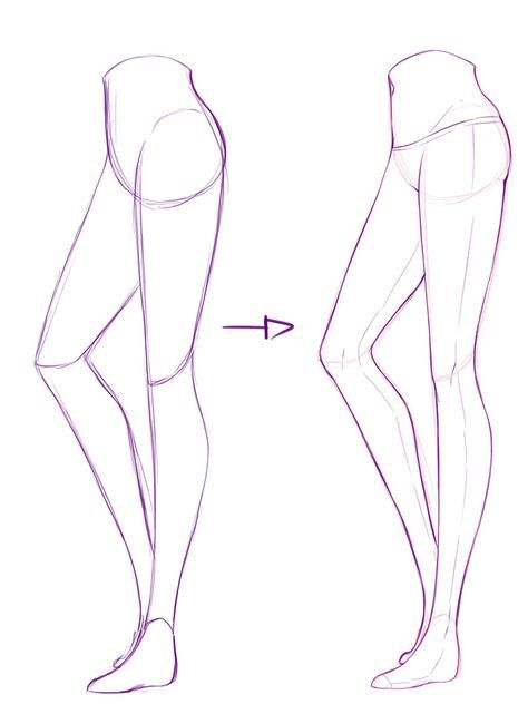 how to draw easy legs