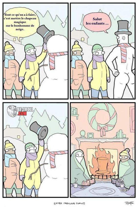 Comment donner vie à un bonhomme de neige ? - Be-troll - vidéos humour, actualité insolite