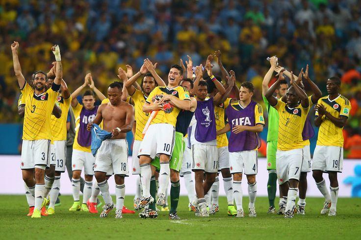 Fotos   Colombia vs Uruguay , Octavos de Final.