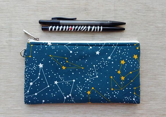 constellation pouch large pencil case zipper pouch makeup