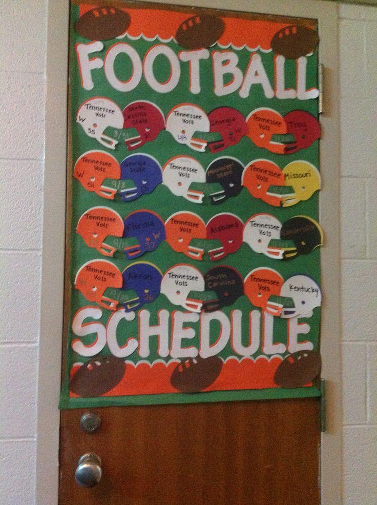 Football Schedule...sport theme